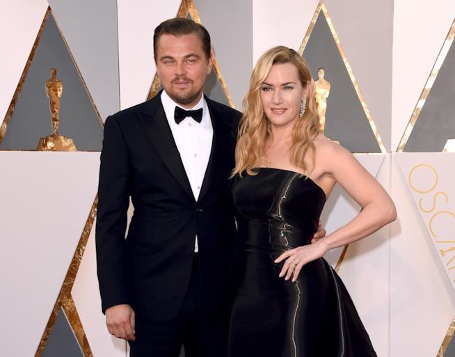 I due protagonisti di Titanic alla notte degli Oscar