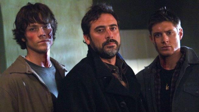 Jared Padalecky con Jeffrey Dean Morgan e Jensen Ackles