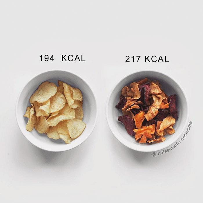 Due ciotole contenenti snack diversi