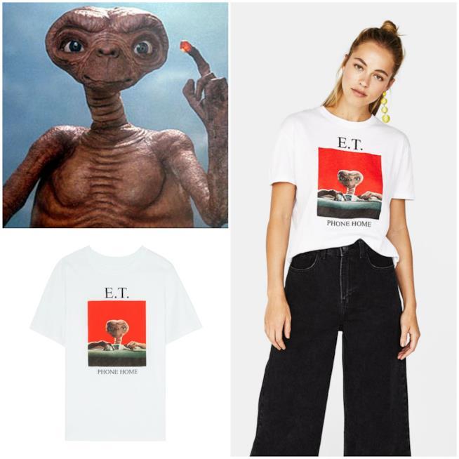 T-shirt E.T. e scena di E.T.