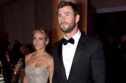 Chris Hemsworth e la moglie Elsa Pataky durante un evento mondano