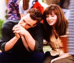 Shannen Doherty e Luke Perry in Beverly Hills 90210