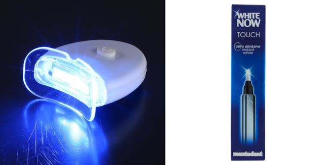 Anself luce led e Mentadent White Now Touch per un sorriso più bello e denti più bianchi