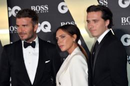David Beckham e Victoria con il figlio Brooklyn