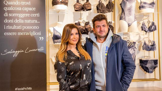 Selvaggia Lucarelli e Gianluigi Cimmino alla presentazione di Supercups a Milano