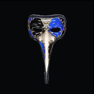 Maschera di carnevale veneziano uomo naso lungo