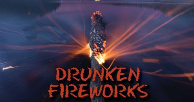 La copertina dell'audiolibro Drunken Fireworks