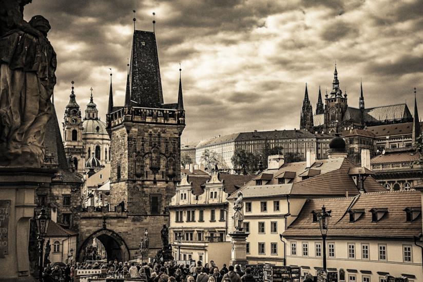 Vista su Praga