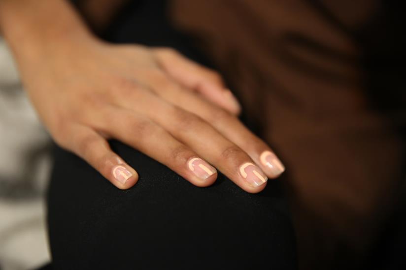 Nail art in gel rosa