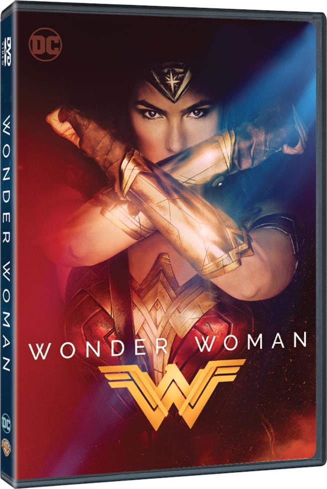 Wonder Woman, la copertina dell'edizione DVD del film