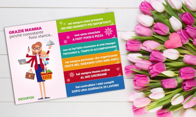 L'iniziativa di Groupon per la festa della mamma.