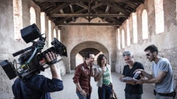 Ligabue con Stefano Accorsi e Kasia Smutniak per il film Made in Italy
