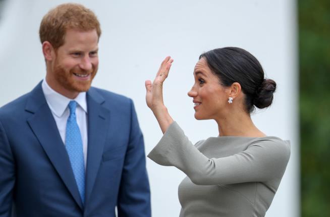 Harry e Meghan durante una delle loro ultime apparizioni pubbliche