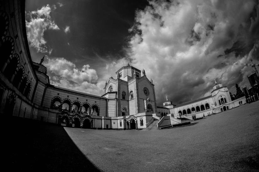 Città italiana nuvolosa