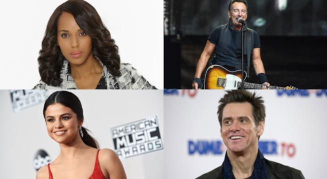 Kerry Washington, Bruce Springsteen, Selena Gomez e Jim Carrey hanno sofferto e vinto la depressione