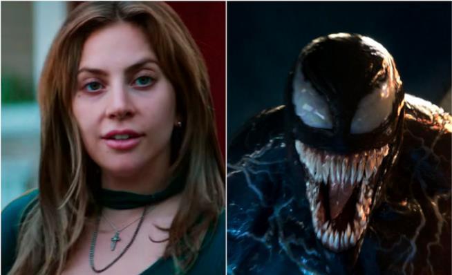 Collage tra Lady Gaga e Venom