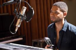 Jamal Lyon mentre registra una nuova canzone