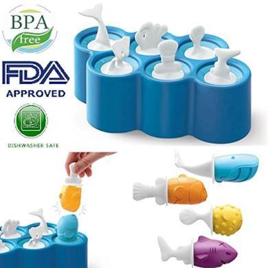 Aolvo Popsicle stampi pesce Popsicle stampi, senza BPA, lavabile e riutilizzabile