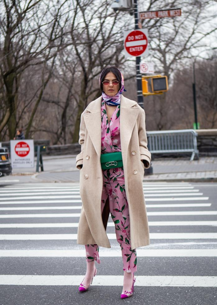 Street Style FW 2019, il foulard