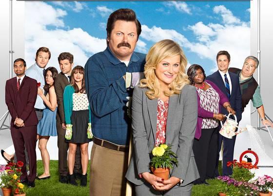 Il cast di Parks & Recreation in una foto promozionale