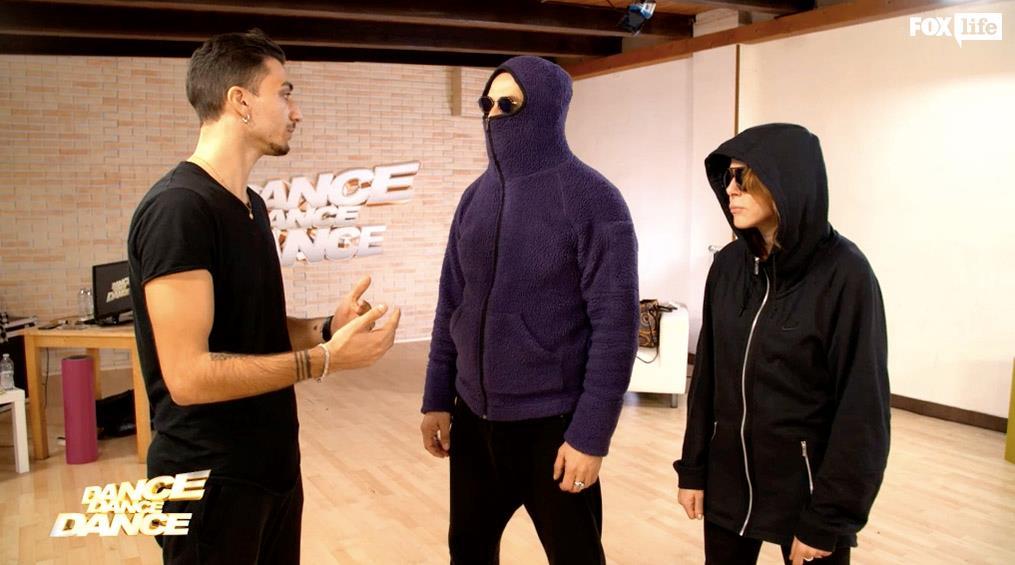 In sala prove con Claudia e Max per la coreografia di coppia