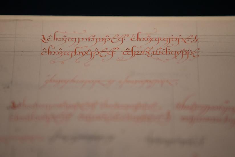 Un manoscritto di Tolkien