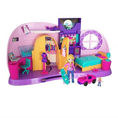 Polly Pocket Playset trasformabile Cameretta di Polly