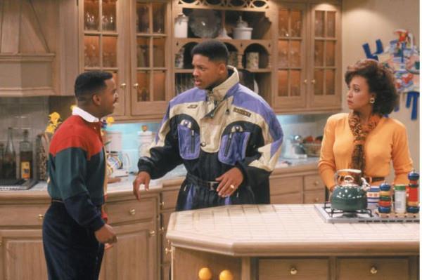 La famiglia Banks in cucina