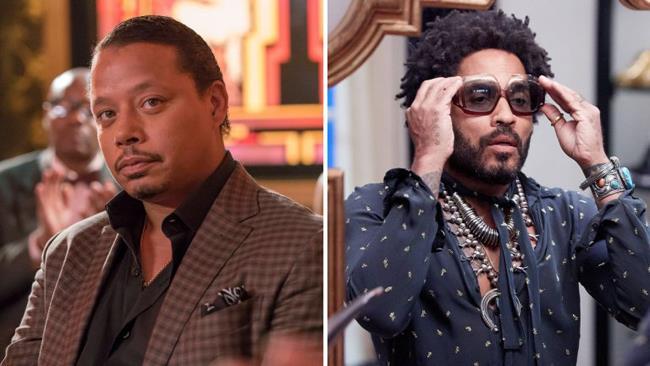 Terrence Howard alias Lucious e Lenny Kravitz alias Roland