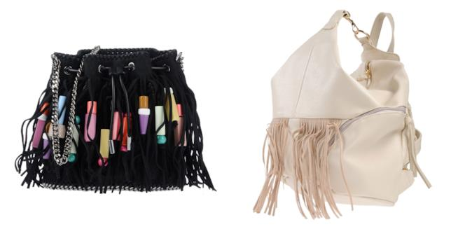 Con le frange, le borse di moda per l'A/I 2018-2019