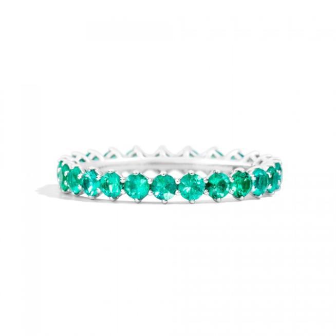 Anello Recarlo con smeraldi per regali di Natale