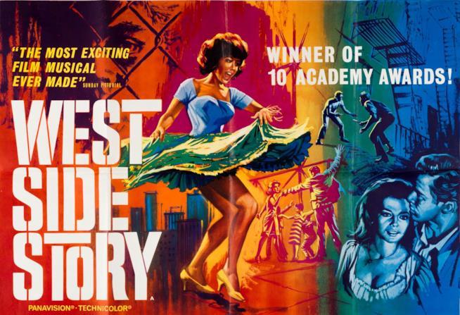 West Side Story, una locandina inglese