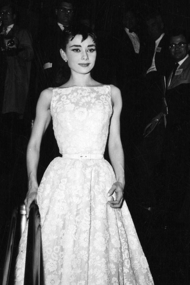 Audrey Hepburn agli Oscar 1954 in Givenchy