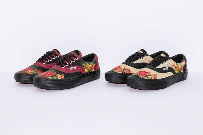 Sneakers Vans Floral Print modello Era Pro Supreme/Gaultier