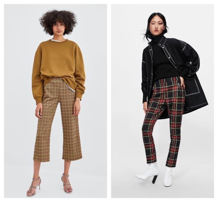 A quadretti e tartan i pantaloni di tendenza autunno inverno 2018-19