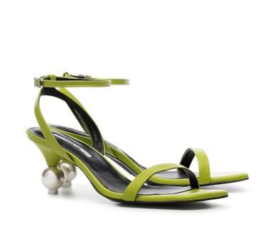 Sandali color verde acido