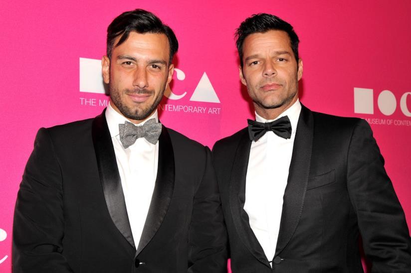Ricky Martin con il compagno Jwan Yosef