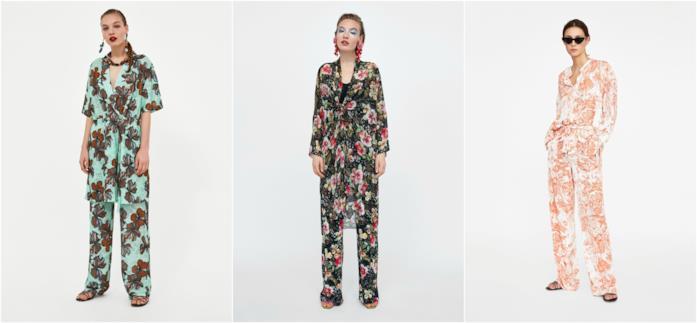 Pantaloni con stampa floreale di Zara
