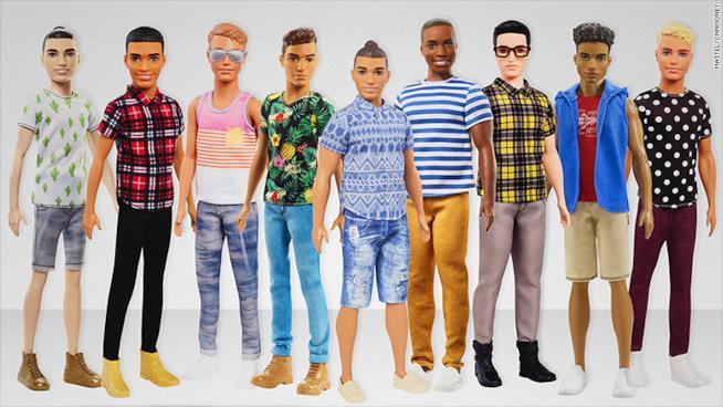 Una schiera di nuovi Ken
