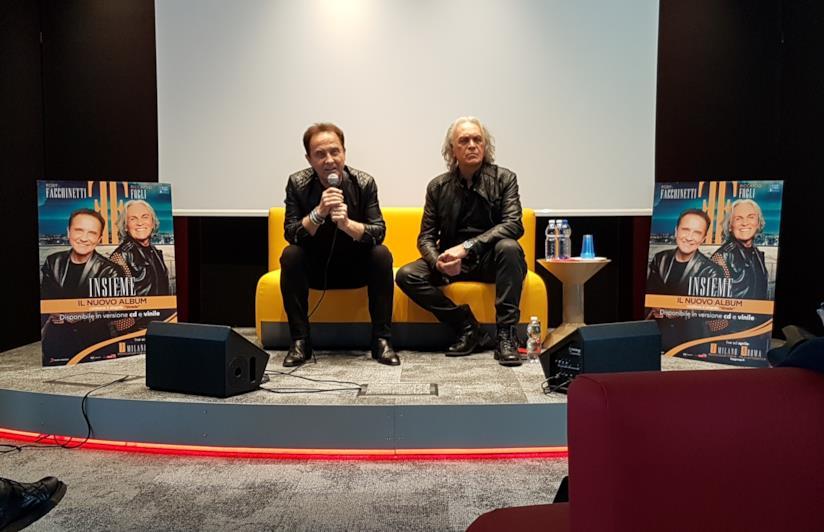 Insieme: Roby Facchinetti e Riccardo Fogli in conferenza stampa