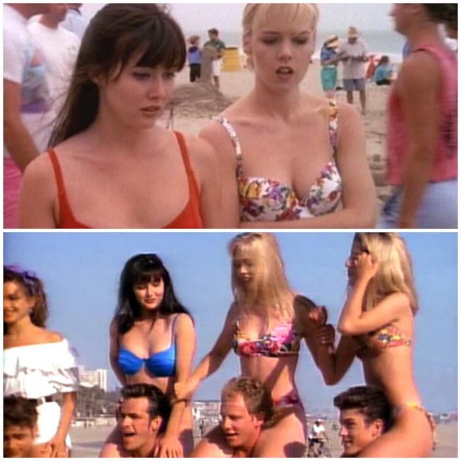 Brenda, Kelly e il resto del gruppo al mare