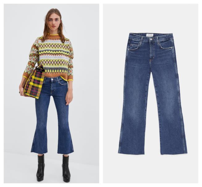 Jeans di moda per l'autunno inverno 2018-19 taglio cropped