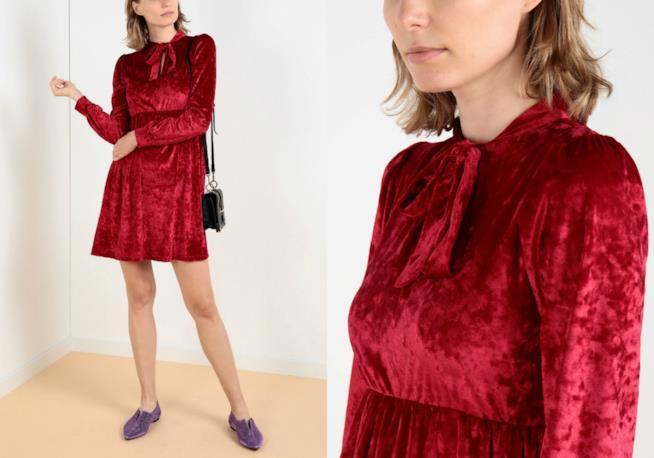 In ciniglia, il vestito corto di moda