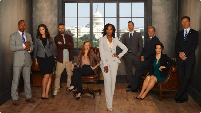 Il cast della serie Scandal