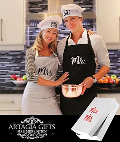 Grembiuli e Cappelli da Chef Mr and Mrs Aprons