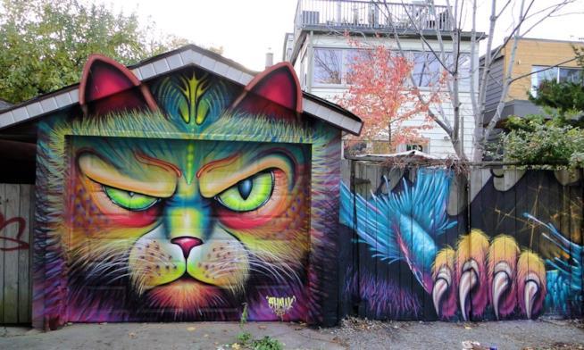 Un colorato gatto creato da Shalak