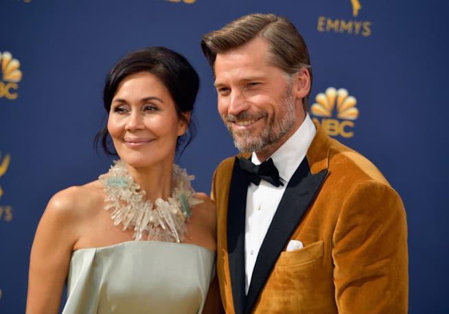 Nikolaj Coster-Waldau con la moglie Nukâka