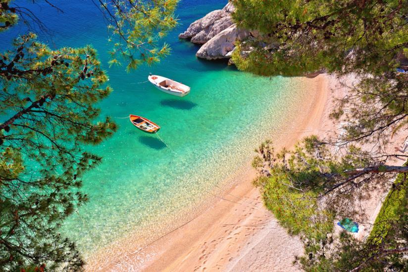 Spiaggia a Brela
