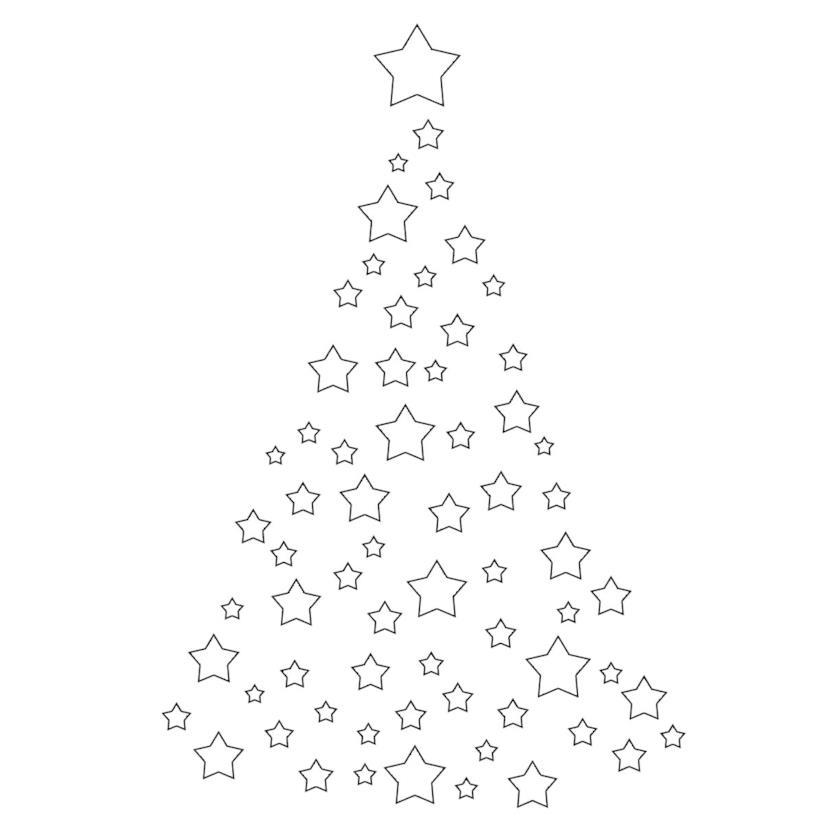 Albero di Natale stilizzato formato da Stelle