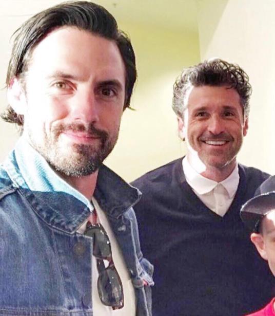Milo Ventimiglia e Patrick Dempsey posano per una foto